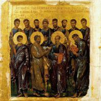 Двенадцать апостолов. Икона 1-й четверти 14 века. Москва, Музей изобразительных искусств им. А.С. Пушкина