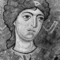 Архангел Михаил. Фрагмент мозаики в алтарной абсиде собора Гелатского монастыря. 1125-1130 гг.