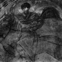 Св. Феодор. Фреска церкви св. Квирика и св. Ивлиты в Кале. 1111 г.