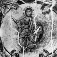 Христос во славе. Роспись купола церкви св. Софии в Охриде, 1-я половина 11 века