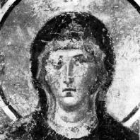 Богоматерь. Фрагмент фрески церкви-усыпальницы монастыря в Бачкове. 12 век