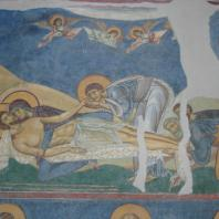 Оплакивание Христа. Фреска церкви св. Пантелеймона в Нерезе. 1164 г.