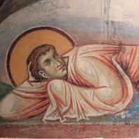 Апостол. Фрагмент фрески «Преображение» церкви св. Пантелеймона в Нерезе. 1164 г.