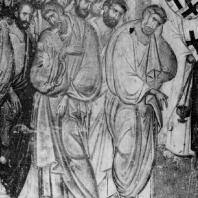 Апостолы. Фрагмент фрески «Успение Богоматери» церкви Троицы в Сопочанах. Конец 13 века