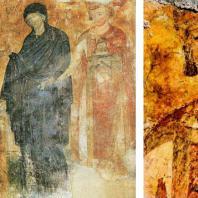 Портретное изображение короля Владислава. Фрагмент фрески церкви в Милешеве. 1-я половина 13 века