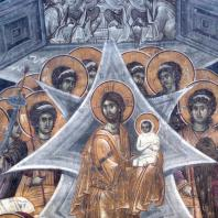 Успение Богоматери. Фреска церкви Богоматери в Грачанице. Около 1320 г.