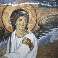 Ангел. Фрагмент фрески «Жены-мироносицы у гроба господия» церкви в Милешеве. 1-я половина 13 века