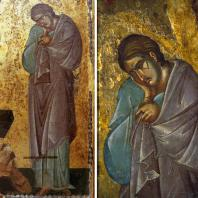 Иоанн. Фрагмент иконы «Распятие».13 век (?)