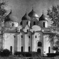 Храм св. Софии в Новгороде. 1045-1050 гг. Вид с юга