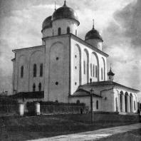 Георгиевский собор Юрьева монастыря близ Новгорода. Начат в 1119 г. Вид с северо-запада