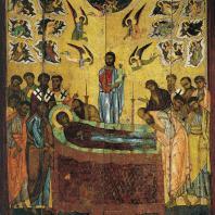 Успение Богоматери. Икона 13 века. Москва, Третьяковская галерея