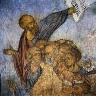 Андрей Рублев. Апостолы и пророки. Фрагмент фрески Успенского собора во Владимире. 1408 г.