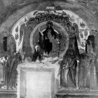 «О тебе радуется». Фреска церкви Рождества Богородицы в Ферапонтовой монастыре. 1500-1502