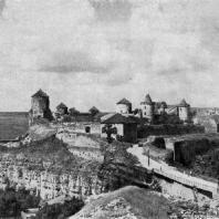 Замок в Каменец-Подольском. 15-16 вв. Общий вид