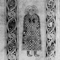 Символ евангелиста Матфея. Миниатюра Евангелия из Дурроу. Около 700 г. Дублин. Тринити-колледж, библиотека