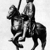 Конная статуэтка Карла Великого. Бронза. Из Меца. Каролингский период. Париж, Лувр