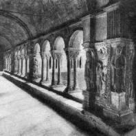 Церковь Сен Трофим в Арле. Конец 12 в. Галерея клуатра