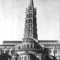 Церковь Сен Сернен в Тулузе. Конец 11-12 вв. Вид с востока