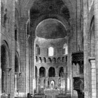 Церковь Сен Этьен в Невере. 1063-1099 гг. Внутренний вид