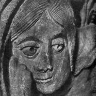 Ева. Фрагмент рельефа с притолоки портала собора в Отене