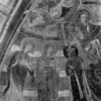 Обручение св. Екатерины. Фрагмент фрески церкви в Монморильоне. Конец 12 или начало 13 в.