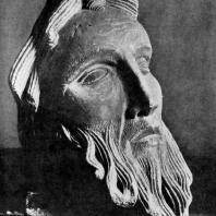 Голова пророка из Санлиса. Возможно, фрагмент статуи собора в Санлисе. 1180-1190 гг. Санлис, Археологический музей