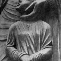 Жертвоприношение Авраама. Скульптурная группа собора в Шартре. Фрагмент. Фигура Исаака