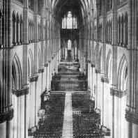 Собор Нотр-Дам в Реймсе. Внутренний вид (с запада на восток)