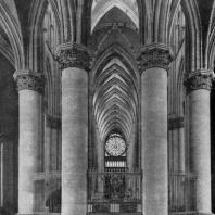 Собор Нотр-Дам в Реймсе. Внутренний вид (с востока на запад)