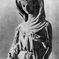Аллегория добродетели. Статуя собора в Страсбурге. Фрагмент. Северный портал западного фасада. 1277-1298 гг.