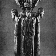 Пульт для чтения из монастыря Альпирсбах с фигурами четырех евангелистов. 3-я четверть 12 в. Фрейденштадт, городская церковь