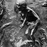 Ева. Фрагмент рельефа бронзовых дверей из церкви св. Михаила в Гильдесгейме