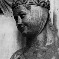 Реглинда. Статуя собора в Наумбурге. Фрагмент