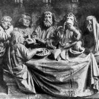 Тайная вечеря. Рельеф собора в Наумбурге с преграды западного хора. Середина 13 в.