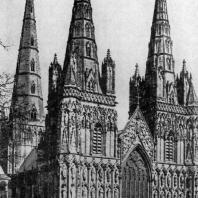 Собор в Личфилде. 2-я половина 13 в. - 1330 г. Вид с северо-запада