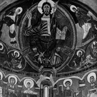 Христос Пантократор. Фреска абсиды церкви Сан Клементе де Тауль. Начало 12 века