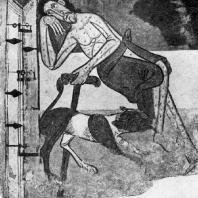 Лазарь. Фреска церкви Сан Клементе де Тауль. Начало 12 века