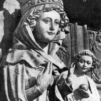 Богоматерь с младенцем (Санта Мария ла Бланка). Статуя центрального портала собора в Леоне. 13 век