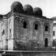 Церковь Сан Катальдо в Палермо. Вид с северо-востока. Начата в 1161 г.