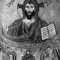 Христос Пантократор. Мозаика абсиды собора в Чефалу. 1148 г.