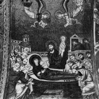 Успение Богоматери. Мозаика церкви Санта Мария дель Аммиральо (Марторана) в Палермо. Около 1143 г.