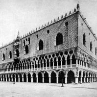 Дворец дожей в Венеции. Общий вид. 14-15 вв.
