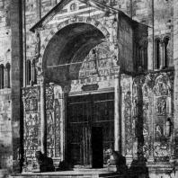 Церковь Сан Дзено в Вероне. 12 в. Портал