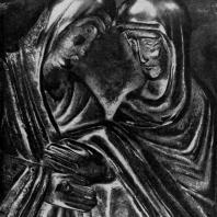 Встреча Марии с Елизаветой. Рельеф бронзовых дверей собора в Пизе. Фрагмент