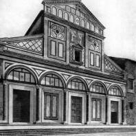 Церковь Сан Миньято аль Монте во Флоренции. Конец 11 - начало 13 в. Западный фасад