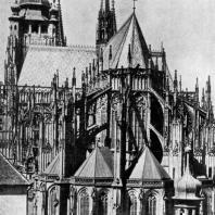 Собор св. Вита в Праге. Вид с востока