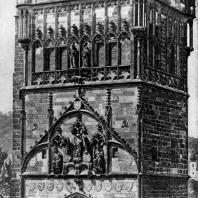 Башня Карлова моста в Праге. Середина 14 век. Фрагмент