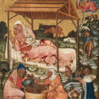 Мастер Вышебродский. Рождество. Около 1350 г. Прага, Национальная галерея
