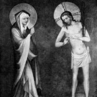 Богоматерь и Христос. Створка алтаря из Грудзёндза. 2-я половина 14 в. Варшава, Национальный музей