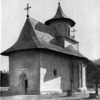 Церковь монастыря в Пэтруэце. Вид с юго-запада
